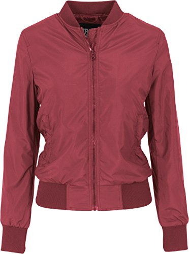 Urban Classics Ladies Light Bomber Jacket, Giacca Donna Bordeaux