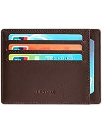 Cartera Pequeña de Cuero para Hombre - Tarjetero Billetera con RFID Minimalista