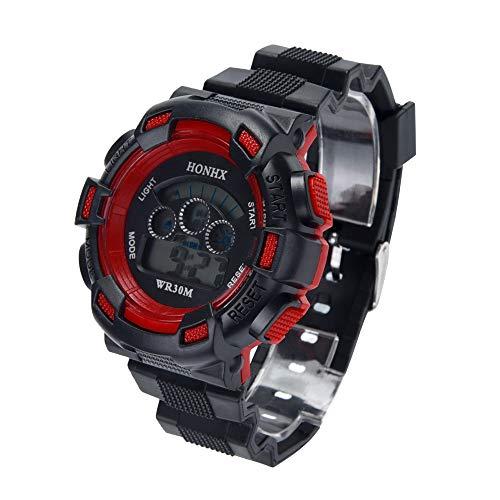 tal Uhren für Kinder Jungen - Wasserdicht Outdoor Sports Digitaluhren Analog Armbanduhr mit Wecker/Timer/LED-Licht ()