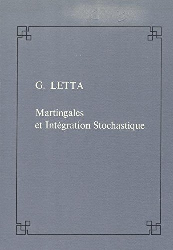 Martingales et Integration Stochastique