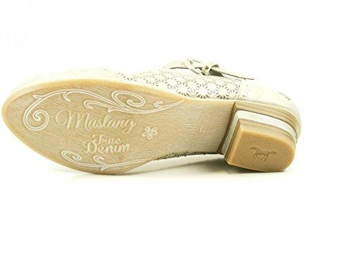 Mustang 1187-205 Schuhe Damen Spangen Pumps Silber