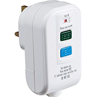 Knightsbridge RCD002 Rewireable 13 Amp 30mA RCD Safety Plug Ideal For Lawnmower Strimmer Hedge Cutter Power Tools
