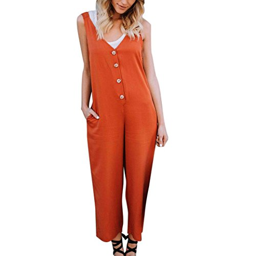 Ladies Jumpsuits,Internet Women Solid Strappy Bib Cargo Pants Casual Coveralls Dungaree Playsuit Romper Maxi Dress Retro Mini Dress Boho Beach Sundress