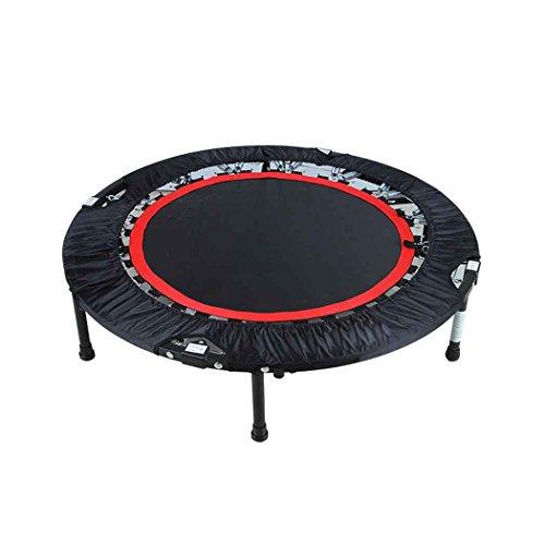 Cooshional Trampolin Faltbar mit Haltestange Indoor Rebounder Gymnastik Trampolin für Erwachsene