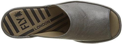 Fly London Jamb865fly, Ciabatte Donna Argento (Lead)