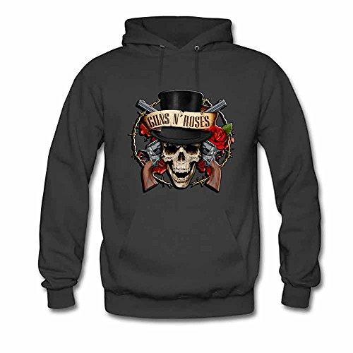 Womens Hooded Sweatshirt Guns N Roses Vector Logo Cotton Hoodie L