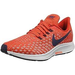 Nike Air Zoom Pegasus 35, Zapatillas de Running para Hombre, Rojo (Habanero Blackened Blue/Vast Grey/Dune Red 602), 43 EU