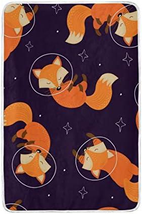 DOSHINE Twin Couverture, Cute Fox Fox Fox Animal étoiles Espace Doux léger Warmer couvertures 152,4 x 228,6 cm pour canapé lit Chaise de Bureau 39f1cd