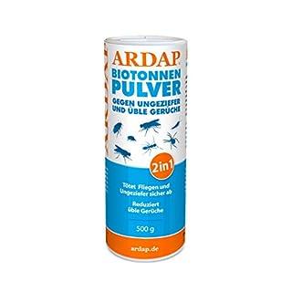 Ardap Biotonnen-Pulver / Gegen Fliegen, Maden, Ungeziefer und üble Gerüche / 500g