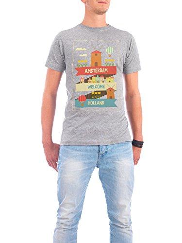 """Design T-Shirt Männer Continental Cotton """"Amsterdam"""" - stylisches Shirt Städte Städte / Amsterdam Reise von Elfivetrov Grau"""
