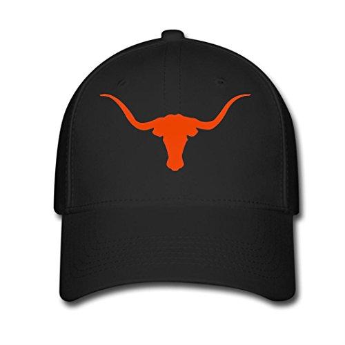 Woman Men Cotton Texas Longhorns Adjustable hats Baseball caps Black