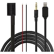 Eximtrade 3,5mm AUX y Lightning Conector Cable Carga MP3 Música para BMW Estéreo SA662 / SA609 / SA661-650