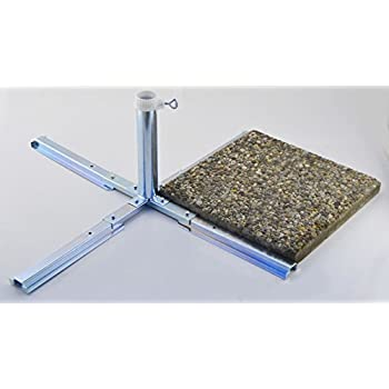 Mandalika Plattenständer für Sonnenschirm Schirmständer Kreuz Platten Ständer