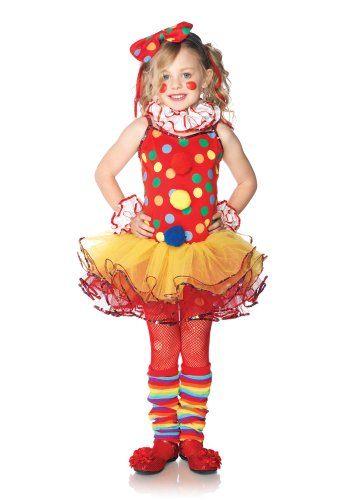 Leg Avenue C48153 - Circus Clown Kostüm Set, Größe S, multicolor