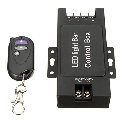 Preisvergleich Produktbild 12-24V LED Light Bar Battery Control Box with Wireless Remote Control Flash Strobe Controller for Work Lamp 7 Flashing Modes
