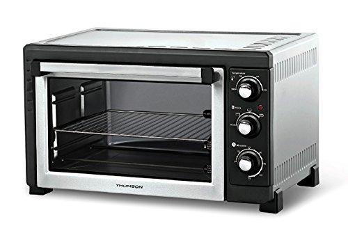 Thomson THEO05637 - Forno da 36 litri, con ventilazione, grill, spiedo, timer fino a 120 minuti, colore nero