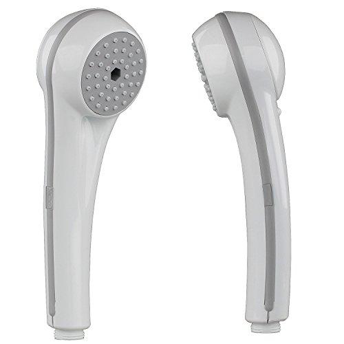 Sanixa TA10801 Douchette de qualité Blanc 1 fonction Économiseur d'eau Buses anti-calcaire En plastique ABS