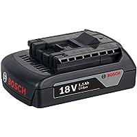 Bosch 2 607 336 804 Ión de litio 1500mAh 18V batería recargable - Batería/Pila recargable (1500 mAh, Ión de litio, 18 V, Negro)
