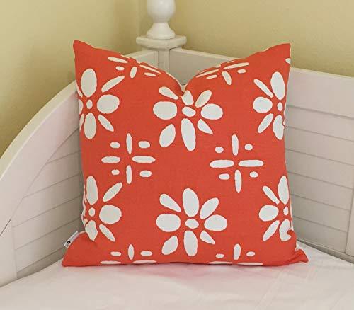 Quadrille China Seas Wildflowers in orange und wei?en Designer Kissenbezug Square Euro und lumbalen Gr??en -