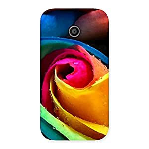Colorful Rose Droplets Back Case Cover for Moto E