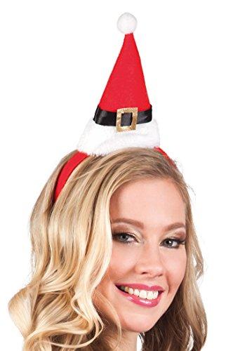 Boland 13407 - Haarreif Weihnachtsmütze, Einheitsgröߟe, (Outfit Miss Santa Kleine)