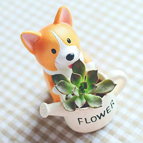 ToDIDAF Netter Blumentopf Cartoon Tier Vase Behälter für Succulent Planter Blumen Bonsai Pflanzen Zuhause Garten Büro Desktop Dekoration (F) -