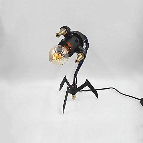 en Kunst Kreativität Roboter Tischlampe Leselampe Nostalgische Persönlichkeit Mechanische Drei-Fuß-Monster Tischleuchte Schreibtischlampe Bar Cafe Ornamente Dekorative Handwerk Ind ()