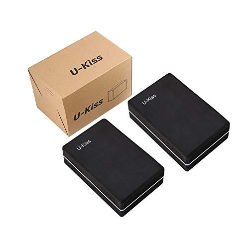 QingTanger 2 PC Nicht toxisches verrutschsicheren Brick Licht Feuchtigkeit Yoga durch U-Kiss (Lichter Kiss)