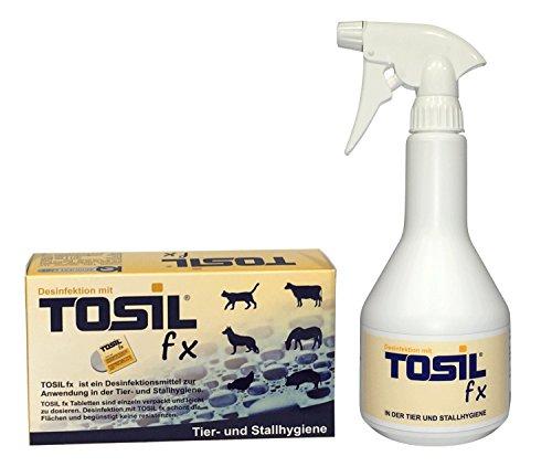 TOSIL fx Startpaket (25 Tabs/Tabletten) – Desinfektionsmittel, wirksam gegen Bakterien, Viren, Pilze & Parasiten (Giardien & Kokzidien), Wirkstoff: Chloramin-T - 2