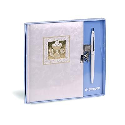 diario candado con bolígrafo primera comunión