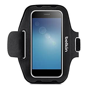 Belkin F8M952 Universal Sport-Fit Fitness Armband for 4.9 inch Smartphones - Black
