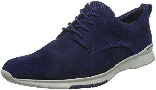 Clarks Tynamo Walk, Scarpe da Ginnastica Basse Uomo, Blu (Blue Suede), 40 EU