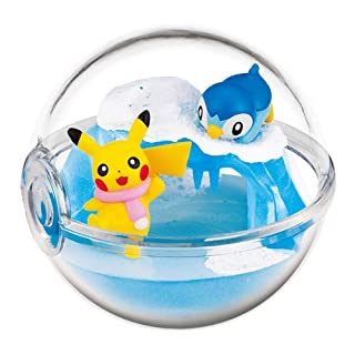 Nintendo Pokemon Center Original Pokeball Terrarium Figure Along with Pikachu~393 Pochama Piplup Plinfa Tiplouf