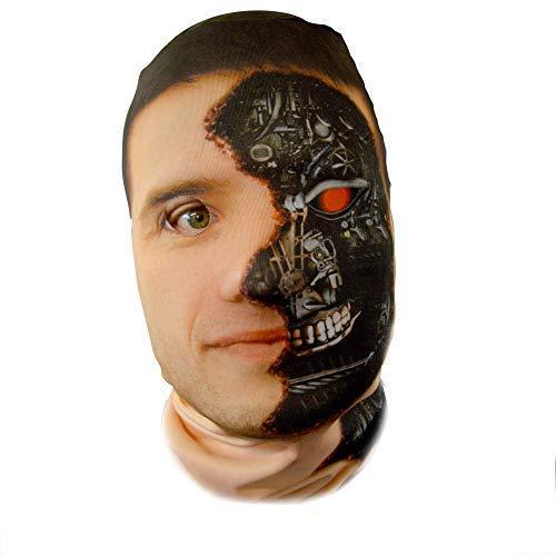 Für Kostüm Terminator Erwachsene - gruselig Halloween Gesichtsmaske Cyborg Terminator Kostüm Horror Lycra