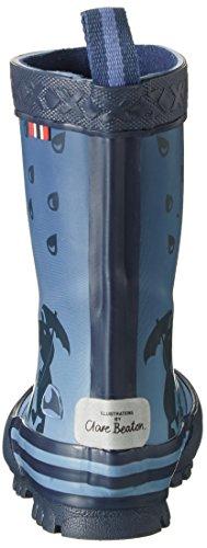Viking Plask, Bottes de Pluie mixte enfant Bleu Marine