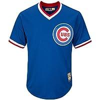 Majestic Chicago Cubs Cooperstown Cool Base MLB Trikot Alternate Blau