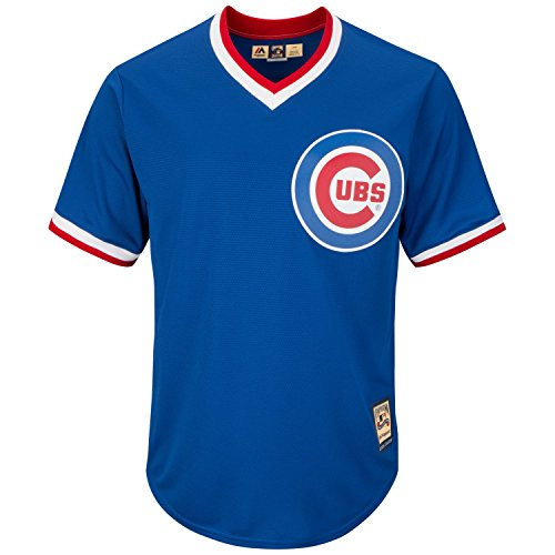 Majestic Chicago Cubs Cooperstown Cool Base MLB Trikot Alternate Blau, XL Cooperstown Base