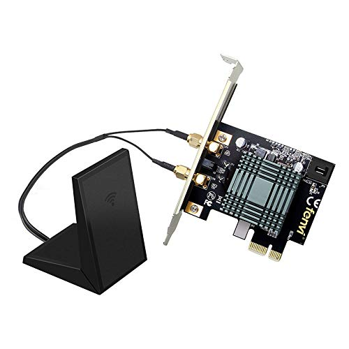 Fenvi Dual Band Wireless-AC 9260 PC PCIE 2030Mbps BT WiFi 802 11ac 2 4Ghz /  5Ghz MU-Mimo Desktop WiFi PC Scheda di Rete con Antenna Magnetica