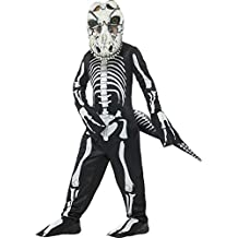 SmiffyS 48006S Disfraz Deluxe De Esqueleto De T-Rex Con Traje Entero Cola Y Máscara