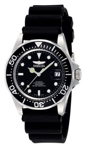 Invicta 9110 Pro Diver Unisex Wrist Watch Stainless Steel Automatic Black Dial