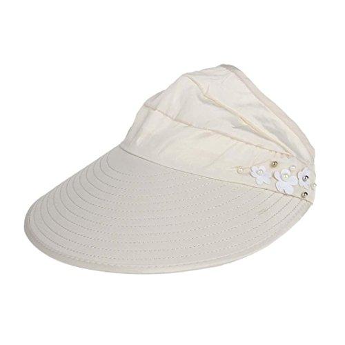 Strand Sonnenschutzkappe UV Schutz Caps Sonnenblende Hut (Beige) (Dallas Cowboy Stroh Hut)