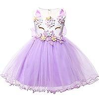 LZH Baby Girls Unicorn Dress Birthday Pageant Princess Tulle Tutu Costumes Rainbow Dress Up