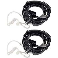 Retevis Walkie Talkie Auricular con Micro Ajustable Laringófono Dedo PTT 2 Pine Pinganillo Compatible con Walkie Talkie RT24 RT22 RT5R RT28 RT617 RT618 Baofeng UV-5R BF-888S Kenwood(2 pcs)