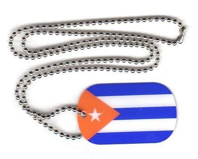 Dog Tag Kuba / Cuba Erkennungsmarke 30 x 50 mm Fahne Flagge