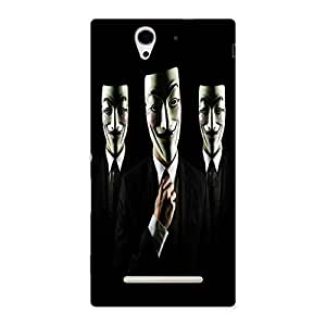Unicovers Tri Face Back Case Cover for Sony Xperia C3
