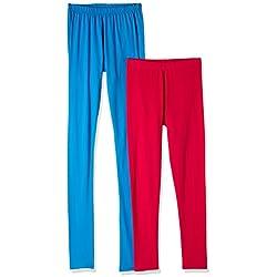 Myx Women's Cotton Stretch Leggings (Pack of 2) (AW16LEG01PCKC_Multi_Large)