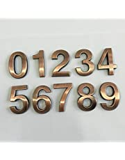 Generic New 1Pc 0-9 Plastic House Numbers 70 * 48 * 8Mm Hotel Home Door Abs Plating Number Digits Sticker Plate Signs Address Plaque New: Letter C