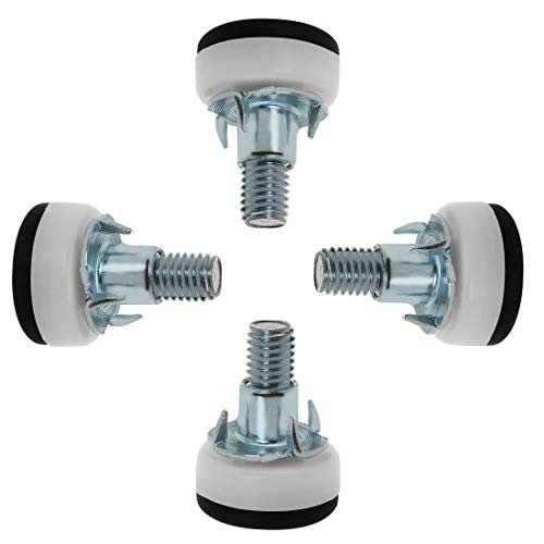 Leg Table Base (ZCHXD M10 x 25 x 30mm Screw on Furniture Glide Leveling Feet Adjustable Leveler Floor Protector with T-nuts for Table Leg 4 Pack)
