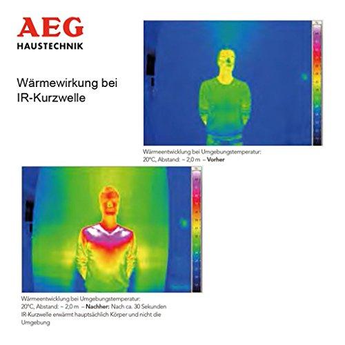 AEG Infrarot-Heizstrahler IR Comfort 2020 W, 2000 W, Goldröhre für Innenbereich, 229952 - 5