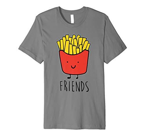 Pommes Frites ist best friend Shirt Frauen Herren Kinder Kartoffel Tees